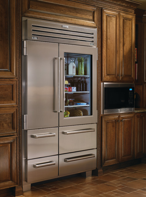 Sub Zero 48 Professional Side By Side Refrigerator With Glass Door 648PROG Traditional