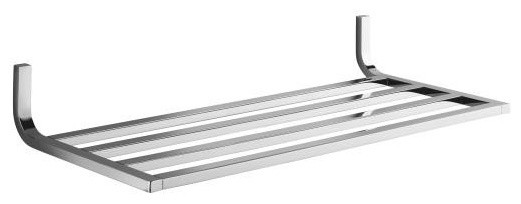 chrome wall shelf
