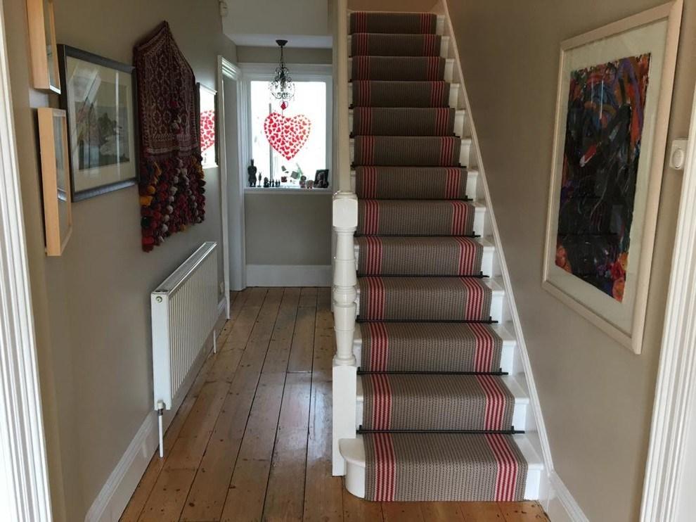 Roger Oates Flaxman Berry Stair Runner Carpet Fitted In Hook   Roger Oates Stair Runners   Wooden   Wood Staircase Carpet   Corner   Pinterest   Carpet