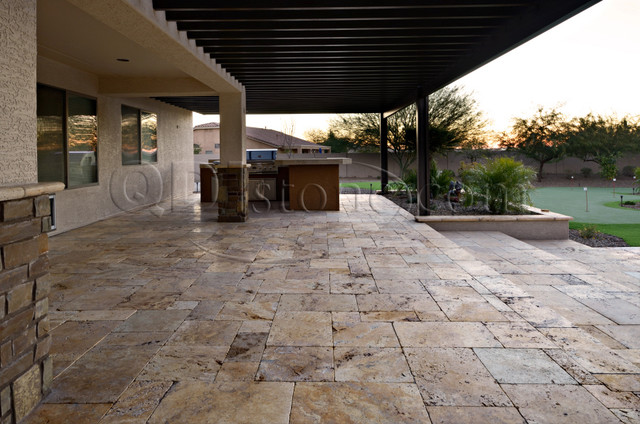 Gold Versailles Pavers Travertine