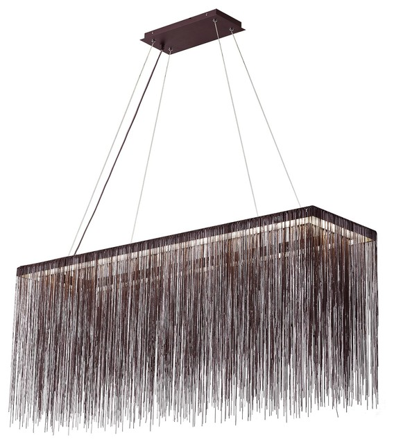 Rectangle 4 Point Free Hanging Chain Chandelier Ak4023 24 X6 X10