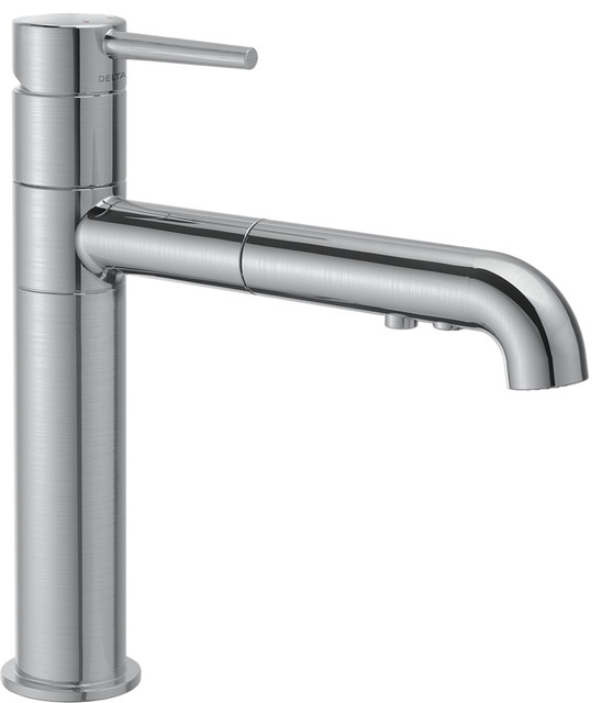 Handle Kitchen Faucet Modern Faucets Plumbersstock