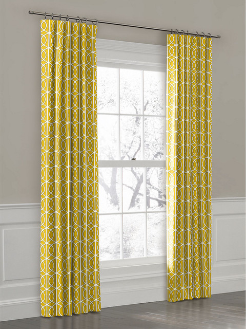 Yellow Ring Top Drapery Panel Curtains New York By Loom Decor