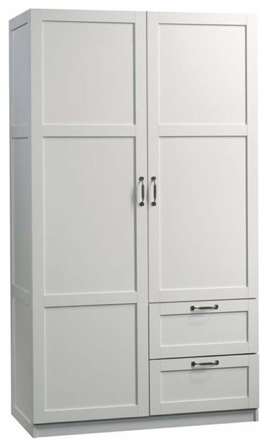 pemberly row 71 2 drawer wardrobe armoire in white