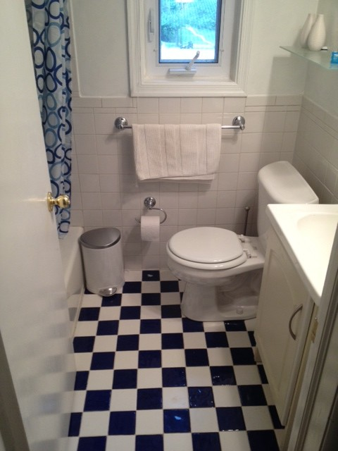 5x7 bathroom space total renovation.