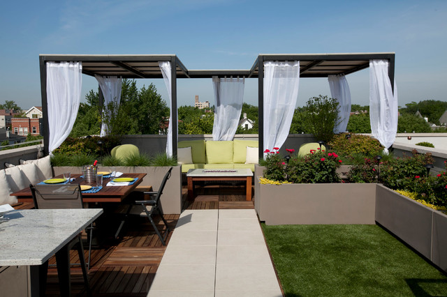 Full View Day contemporaneo-patio