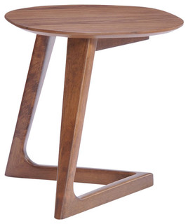 modrest jett modern walnut end table midcentury side tables and end tables by modern miami furniture