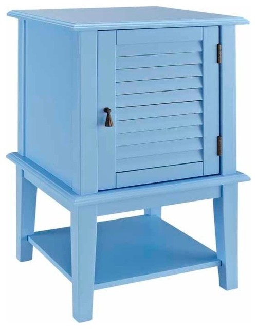 Shutter Door Table- Ocean Blue
