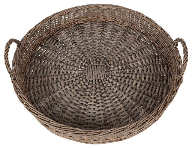 20 Round Willow Tray Farmhouse Serving Trays By KAF