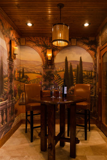 Tuscan Style Tasting Amp Wine Rooms Traditional Wine