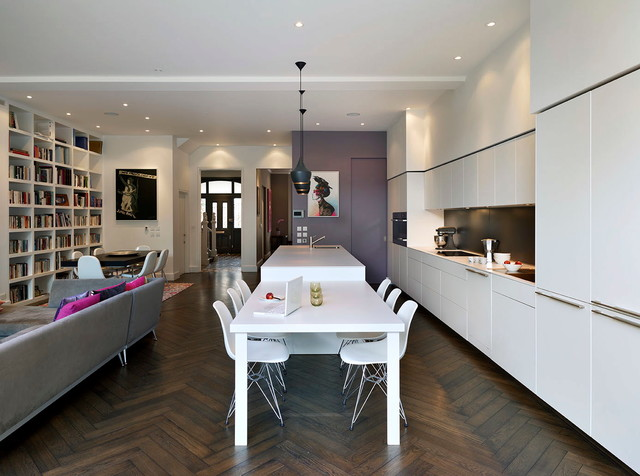 Extension and renovation of Edwardian House contemporary-kitchen