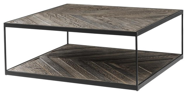 square coffee table eichholtz la varenne black 40 x40 x15