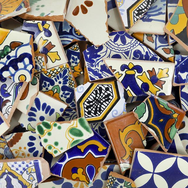 broken talavera mexican tile in mixed decorative tiles 10 pounds