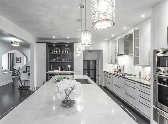 Modern White And Grey Kitchen Designs