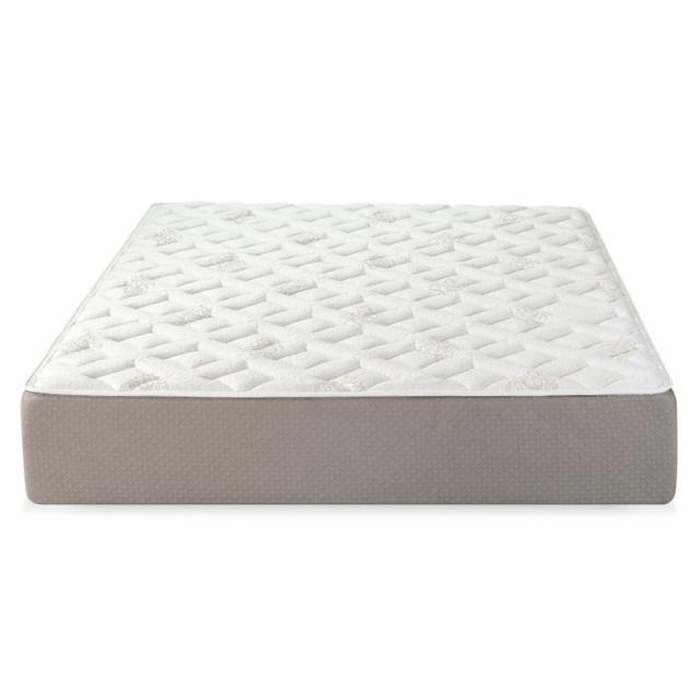 Serenia Sleep 12 Inch Quilted Sculpted Gel Memory Foam Mattress White Queen Contemporary