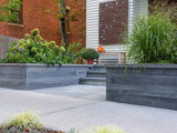 traditional-exterior A New England Front Yard Designed for Relaxation and Resilience (9 photos)