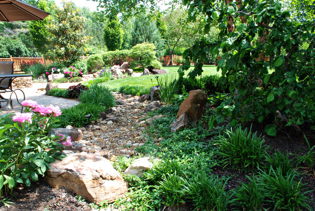 Phase One Dry Creek Bed Traditional Landscape