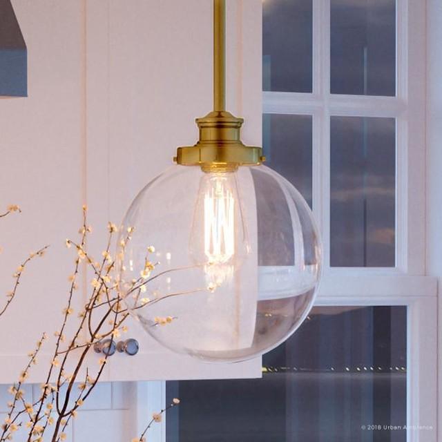 luxury vintage pendant light glasgow series native brass