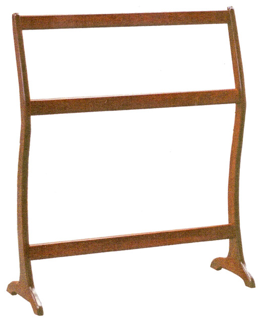 amish quilt rack curved modern solid hardwood handmade almost natural stain