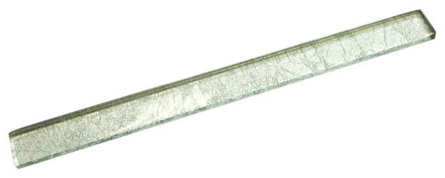 1 x11 75 kiaan glass pencil liner tile clear silver