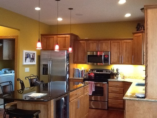 Gold Wall Color In Kitchen Too Much