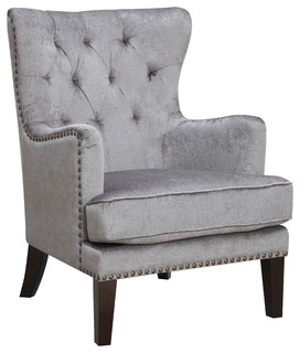 Wingback Accent Chair, Gray