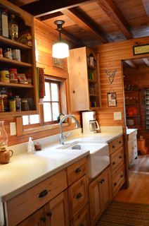 Rustic Cabin Galley Kitchen Rustic Kitchen Portland By Julia Williams ASID