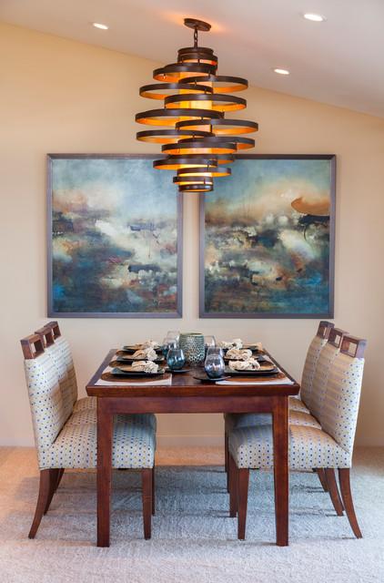 Del Mar Coast Retreat transitional-dining-room