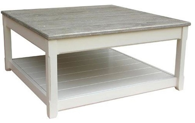 trade winds cottage coffee table traditional antique square white