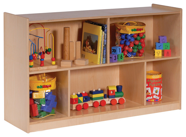 Mobile Toy Storage Cabinet 32W Single Contemporary