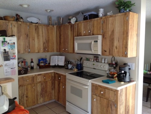 Help These Ugly Kitchen Cabinets