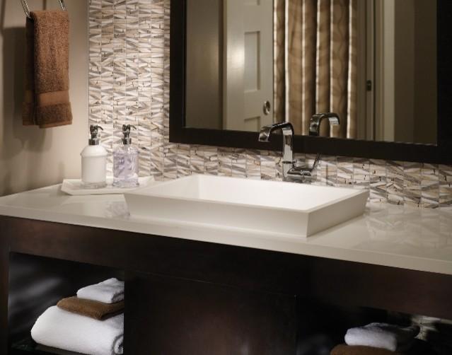 mti petra semi-recessed lavatory sink - contemporary - bathroom