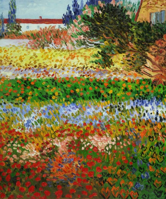 Van Gogh Flowering Garden With Path Modern Paintings