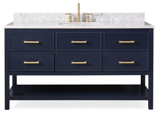 60 aruzza navy blue contemporary bath vanity