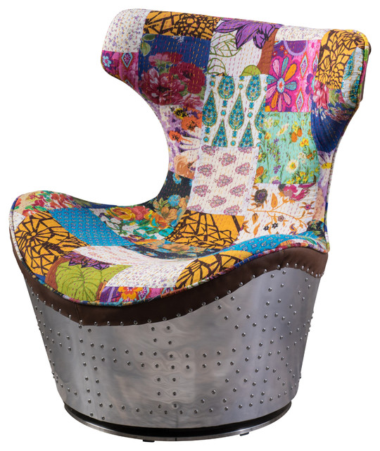 Fabric Swivel Armchairs Living Room