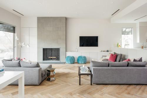 Camino e tv il punto focale del soggiorno mobili di for Living con camino