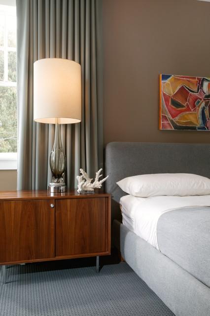 Modern Grey Bedroom - Midcentury - Bedroom - New Orleans ...