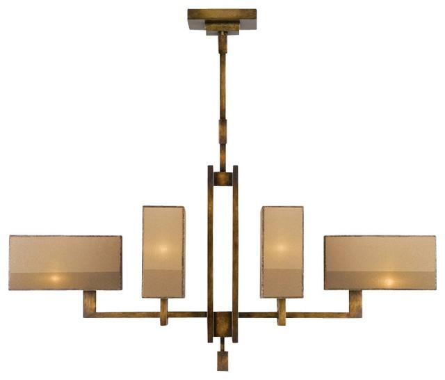Fine Art Lamps Perspectives Bronze Chandelier 734040st Contemporary Chandeliers