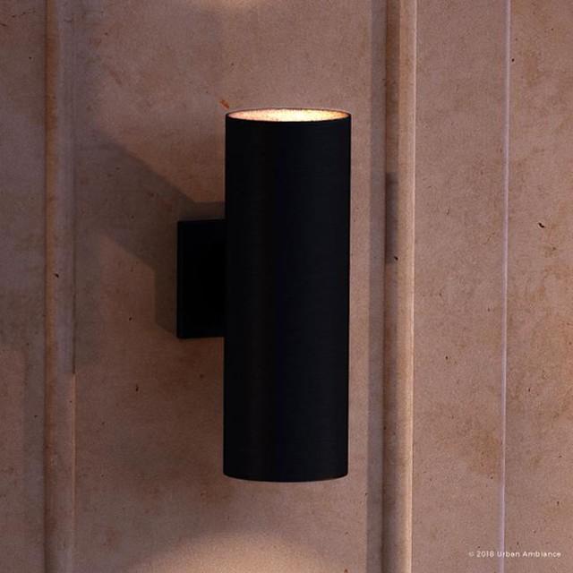 luxury contemporary porch light hollywood series midnight black