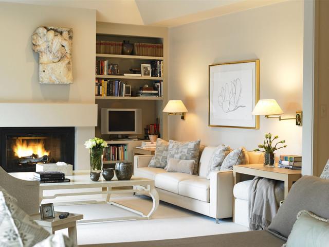 good idea put sconces over the sofa