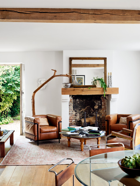 un salon vintage et cocooning