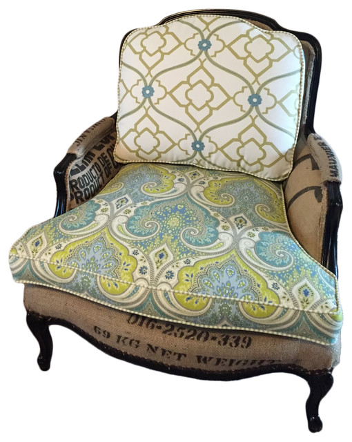 Teal Armless Accent Chair