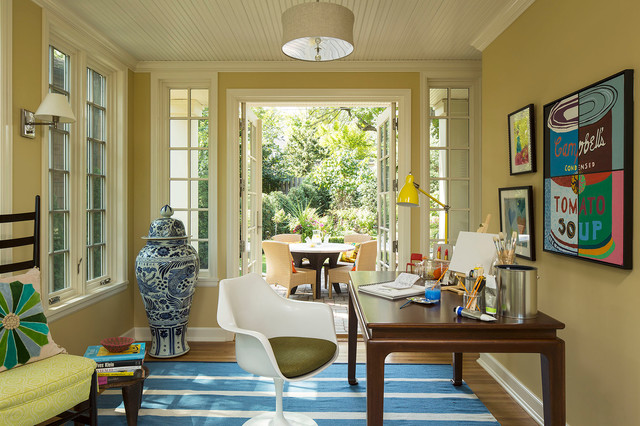 Classic Colonial Addition Eclectic Home Office