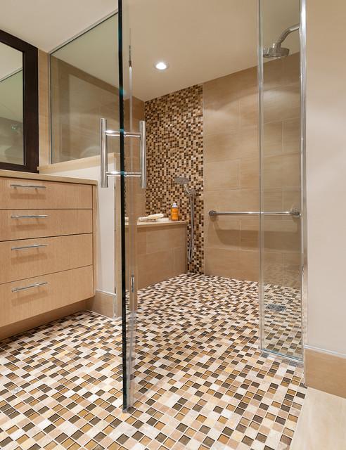 Condo Remodel, Arlington VA contemporary-bathroom