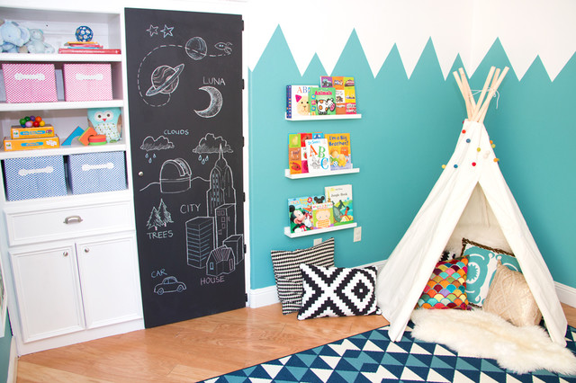 Mountains of Fun Playroom modern-kids