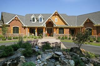 Custom Ranch Rustic Exterior Cincinnati By Robert Lucke Homes