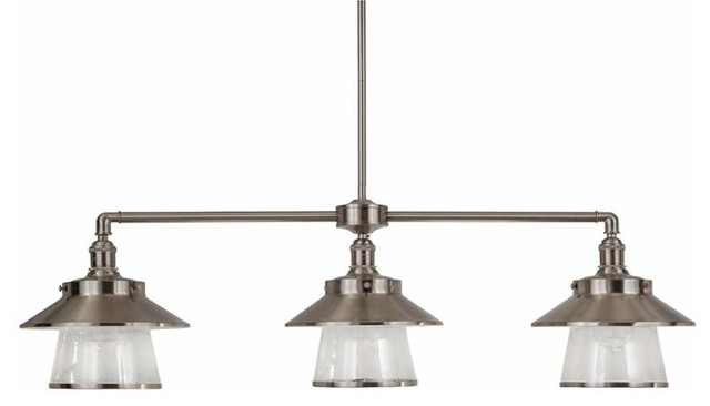 Stockton 3 Light Chandelier Brushed Nickel Chandeliers