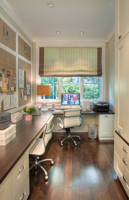 transitional-home-office 10 Inspirasi Home Office Dijamin Bikin Kamu Makin Produktif Berkreasi di Rumah