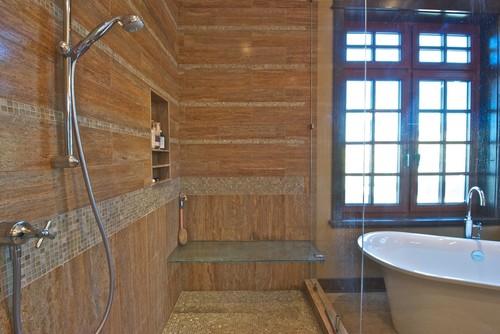 Wood Grain Tile Shower Wb Designs - Wood Grain Tile Bathroom Ideas - Bathroom Design