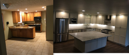 Tri Level Main Floor Kitchen Remodel Before And After